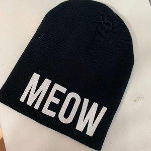 Rue 21 Black 'Meow' Winter Beanie